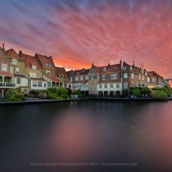 Majestic sunrise in Enkhuizen