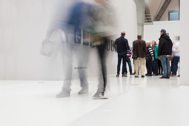 Beweging tijdens een expositie -