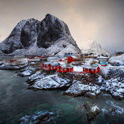 Stormy weather above Hamnoy Lofoten