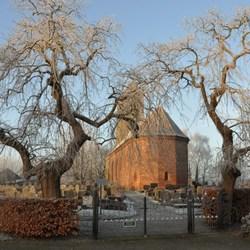 Winter op de begraafplaats
