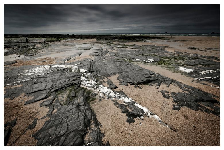 Constantine Bay - Een strand in Cornwall, Zuid-Engeland. Alleen gebruik gemaakt van de Cokin ND 0.4 met harde overgang.
