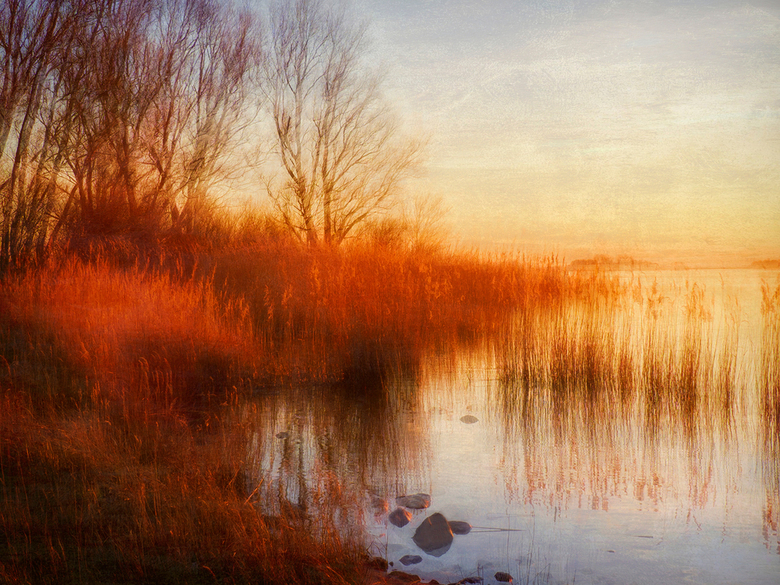 Schildmeer - Bij Steendam, foto gemaakt met meervoudige belichting en afgewerkt met een Nikfilter en wat textuur toe gevoegd!