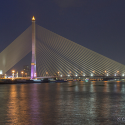 Rama Vlll bridge of Bangkok, Thailand
