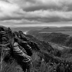 Uitzicht vanaf de Schrammsteine