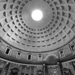 Pantheon in black and white