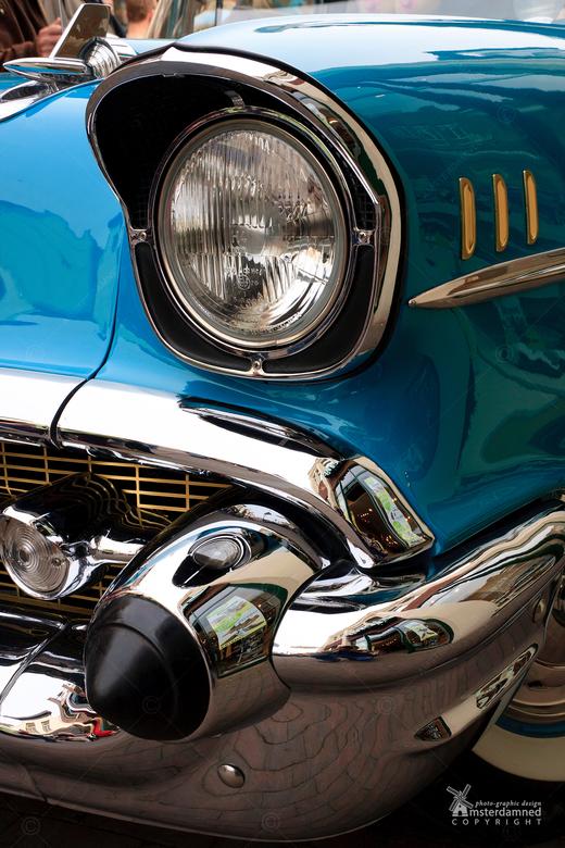 Oldtimerdag Zoetermeer - Een chevrolet sedan 2103-6S uit 1957