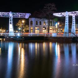 Verlichte bruggen in Meppel