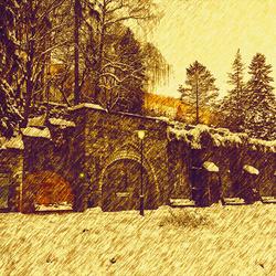 Kasteeltje in de sneeuw