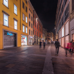 Window shopping at night