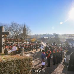 Herdenking door Limburgse Schutterij