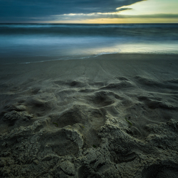 zand en strand lange sluitertijd