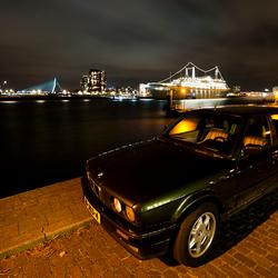 BMW at night