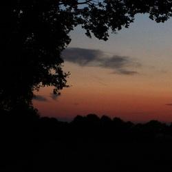 Ondergaande zon in Drenthe