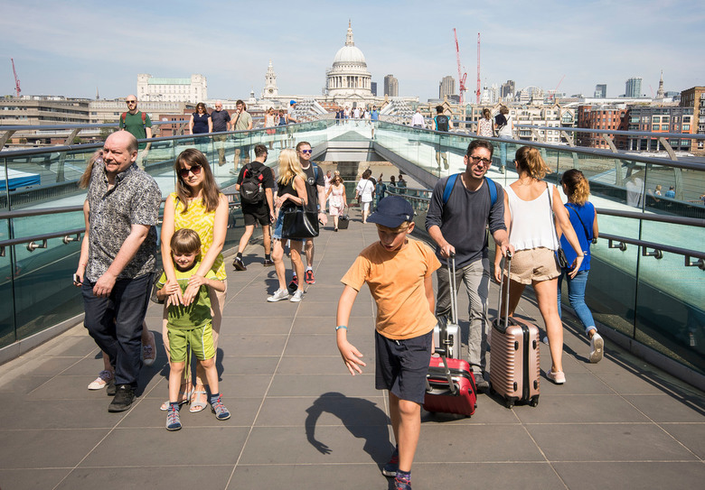 Londen - Millenium Bridge - Londen - Millenium Bridge