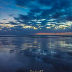 Nacht valt over Dishoek Beach