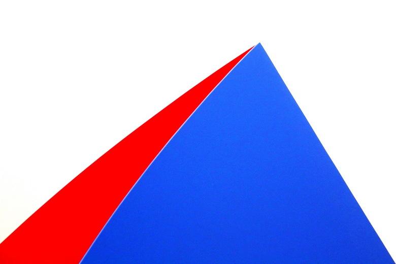 Part of Art -1- - Dit is een deel van een bijzonder kunstwerk dat is gemaakt door Ellsworth Kelly. Hij noemde het Blue Red Rocker, ofwel Blauw Rode Tu