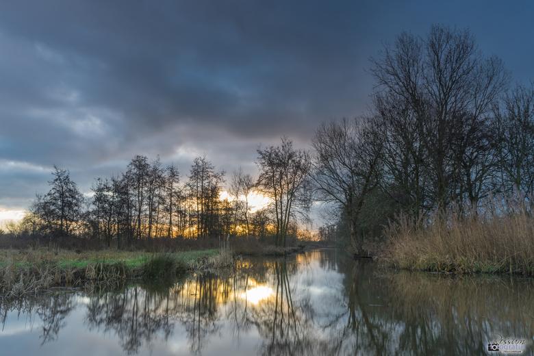 Zonsopkomst bij 't Weegje - Waddinxveen - Zonsopkomst in natuurgebied het Weegje te Waddinxveen.