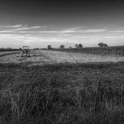 Landschap in HDR zwart/wit