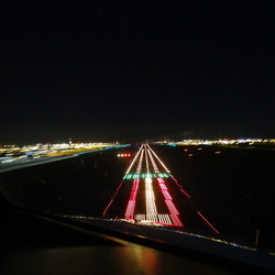 Landing at night