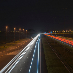 A7 bij Nacht
