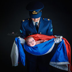 Luchtmacht newborn shoot