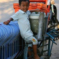 Mannetje in Cambodja