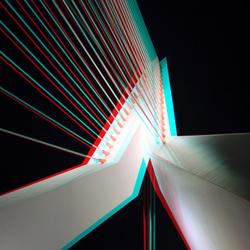 Erasmusbrug Rotterdam by night 3D