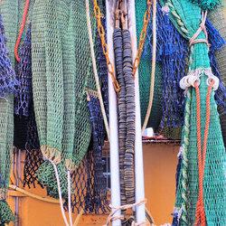 Kleurige visnetten
