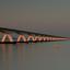 zonsondergang bij zeelandbrug