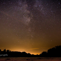 Milky way and the falling star
