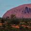Uluru (red center)