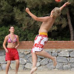 Volleyballer in actie