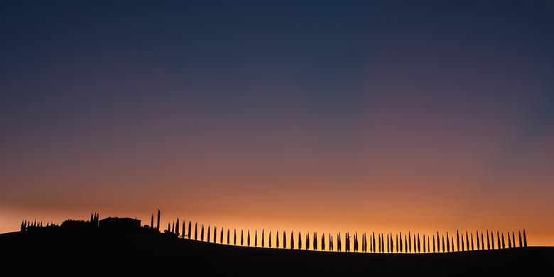 Zonsopkomst Toscane...... - 10 minuten voor zonsopkomst.........