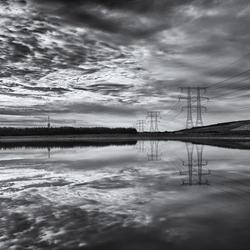 Reflectie op het water