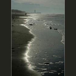 Winterbeeld van Bredene strand