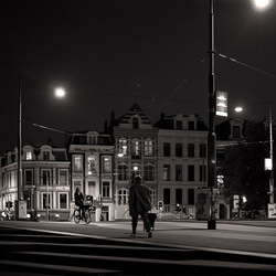Het is stil in Amsterdam..