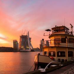 Zonsopkomt in Rotterdam