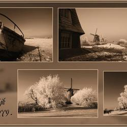 Collage van het winterlandschap-2