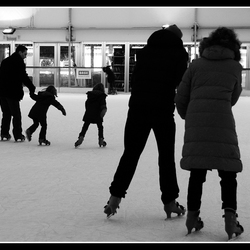 Movement on the ice.
