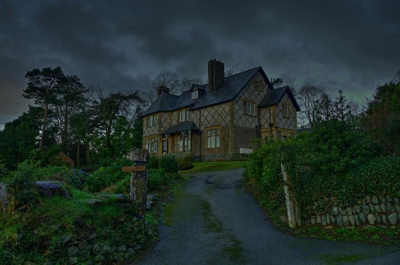 Bryn Henlla   Country house._01 - In Noord Wales hebben de huizen dus geen huisnummer maar een naam.Lekker makkelijk om het te vinden niet.De postbode