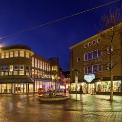 Enschede - Kruispunt de Graaf bij avond
