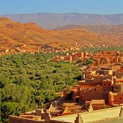 Oase dorp Atlasgebergte (Marokko)