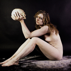 Pagan woman and scull 100
