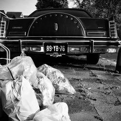 Trash car Lincoln Continental