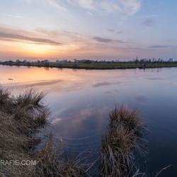 Zonsondergang in Rouveen.