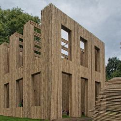 Sonsbeekpark-bamboe installatie