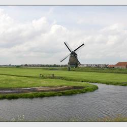 Zicht op Volendam.