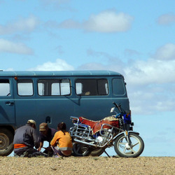 Autopech in Mongolie