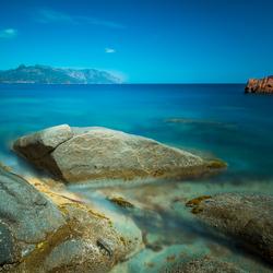 Sardinië, Arbatax, Rocce Rosso nel mare blu