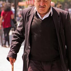 oude man met stok